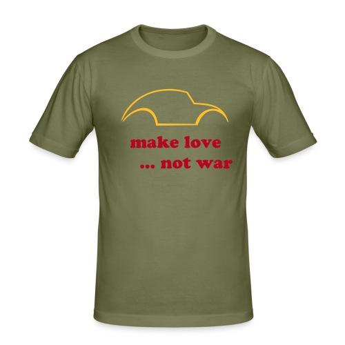"1HH motif ""Make love not war"" - Tee shirt près du corps Homme"