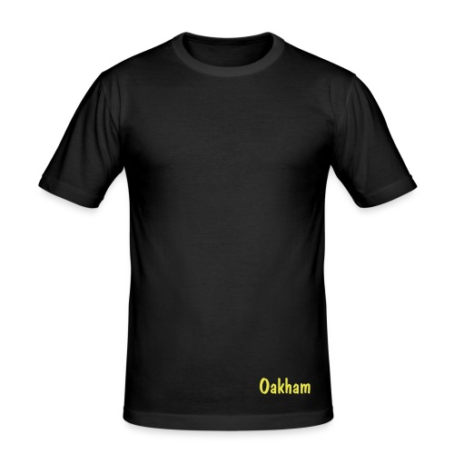 Oakham Fitted Tee - Black - Men's Slim Fit T-Shirt