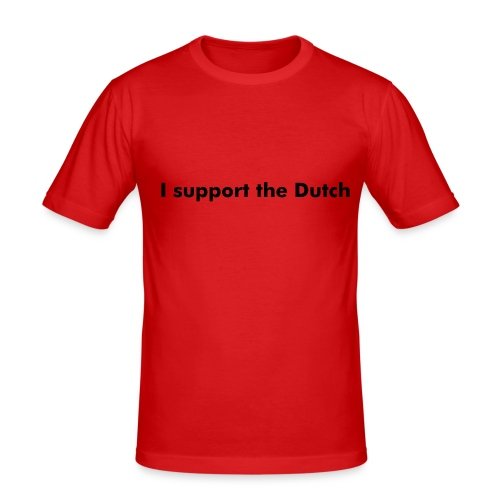 I support the Dutch - slim fit T-shirt