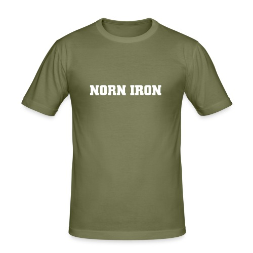 Olive Norn Iron Hanes Fit-T - Men's Slim Fit T-Shirt