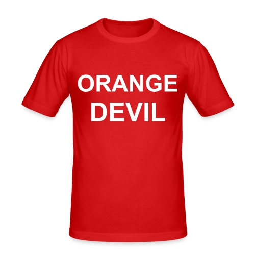 Orange Devil - slim fit T-shirt