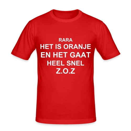 het is oranje - slim fit T-shirt