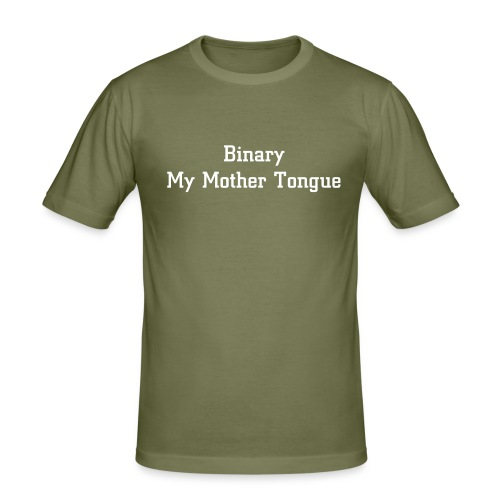 Binary- My Mother Tongue - Men's Slim Fit T-Shirt