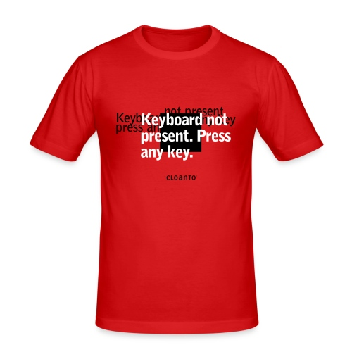 0x03 (white): Keyboard not present. Press any key. - Men's Slim Fit T-Shirt