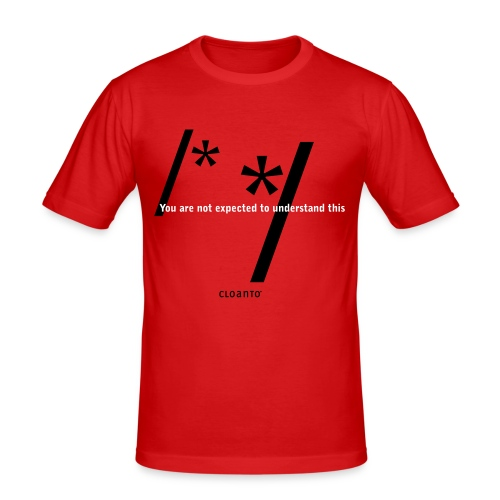 0x01 (reflex): /* You are not expected to understand this */ - Men's Slim Fit T-Shirt