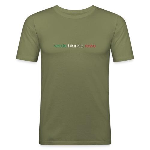 verde bianco rosso 01 - Maglietta aderente da uomo