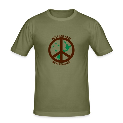Nuclear Free Mens T-shirt - Men's Slim Fit T-Shirt