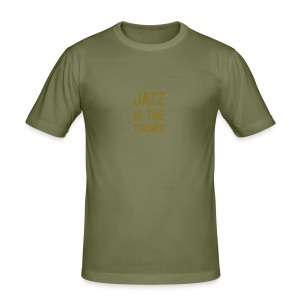 JAZZ is the teacher - Men's Slim Fit T-Shirt