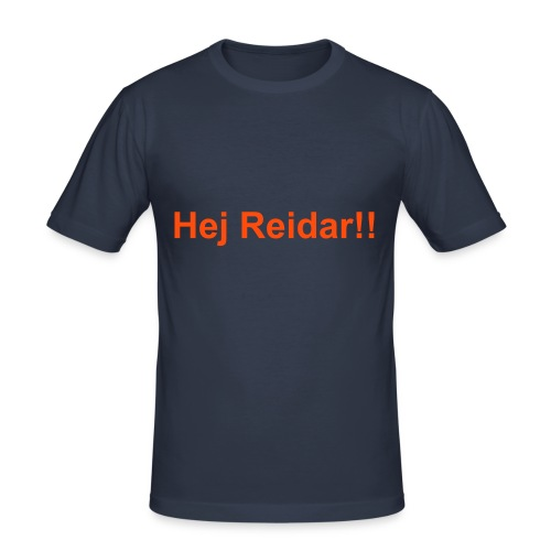 Hej Reidar! - Slim Fit T-skjorte for menn