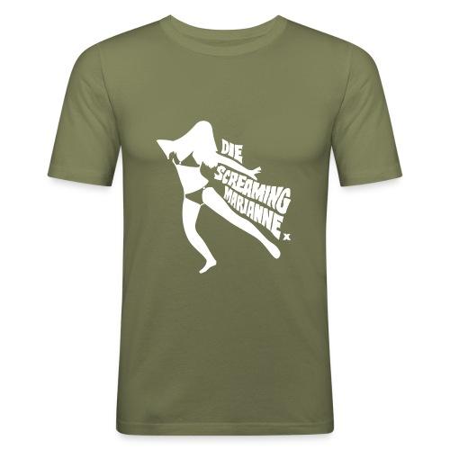 Die Screaming Marianne grey tee - Men's Slim Fit T-Shirt