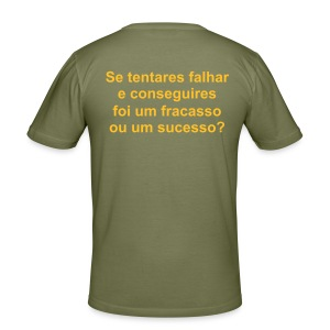fracasso/sucesso? - Men's Slim Fit T-Shirt