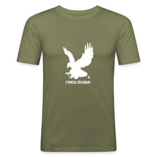 L'aigle Oulala - vous pouvez choisir la couleur du tee shirt - T-shirt près du corps Homme