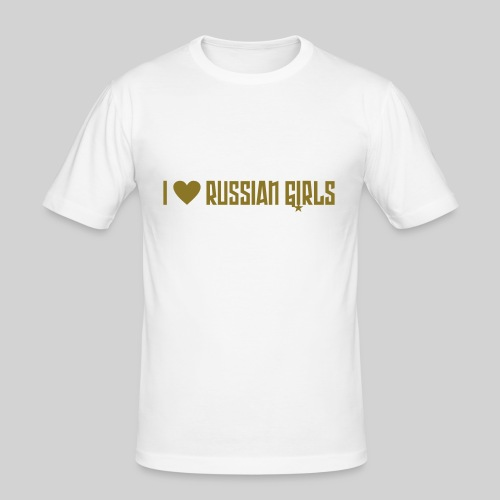 I love russian girls - Männer Slim Fit T-Shirt