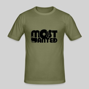 Most Wanted DJ Shirt - Männer Slim Fit T-Shirt
