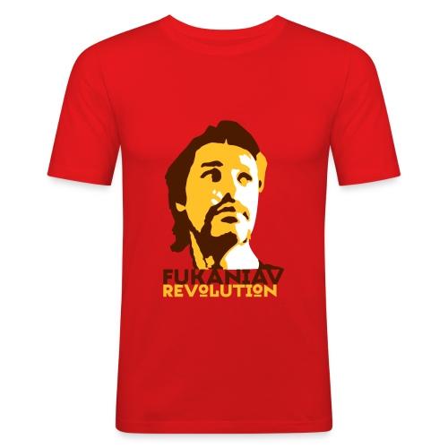 Men's Slim Fit T-Shirt - A camiseta oficial da revolução fucânica em cor parcialmente baiana.
