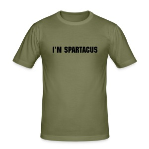 Spartacus Grey - Men's Slim Fit T-Shirt