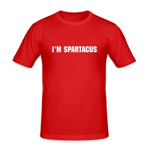 Spartacus Red - Men's Slim Fit T-Shirt