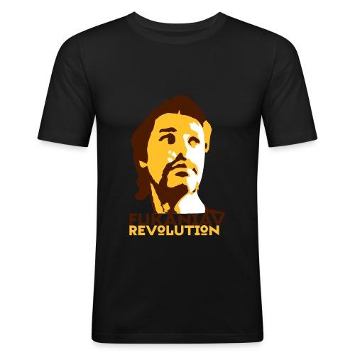 Men's Slim Fit T-Shirt - A camiseta oficial da revolução fucânica em cor alternativamente baiana.