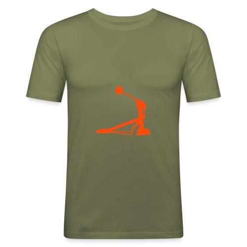 Fußmaschine (olive) - Männer Slim Fit T-Shirt