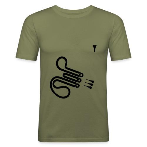 Waldhorn (olive) - Männer Slim Fit T-Shirt