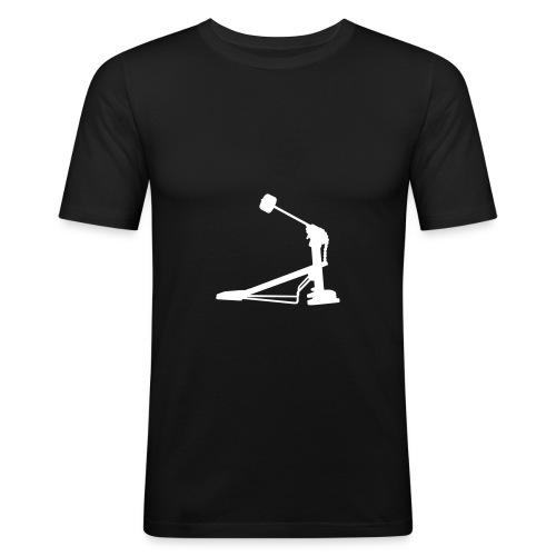Fußmaschine (schwarz) - Männer Slim Fit T-Shirt