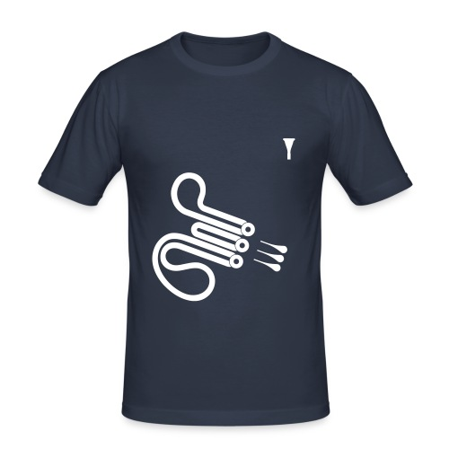 Waldhorn (dark navy) - Männer Slim Fit T-Shirt