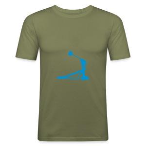 Fußmaschine Slim Fit (camel) - Männer Slim Fit T-Shirt