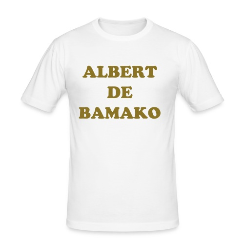 Albert king or/blanc - T-shirt près du corps Homme