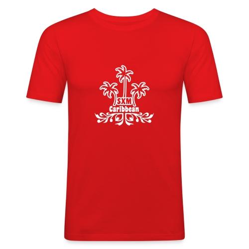 Caribbean flower - T-shirt près du corps Homme