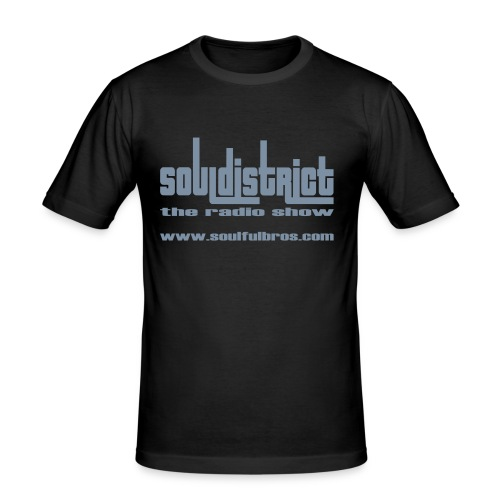 T-Shirt Soul District cintré noir/argent - T-shirt près du corps Homme