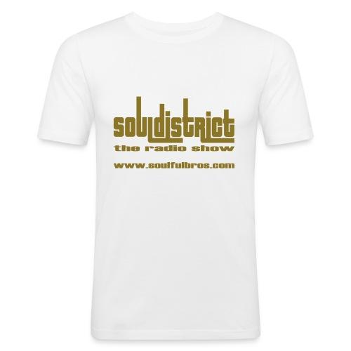 T-Shirt Soul District cintré blanc/or - T-shirt près du corps Homme
