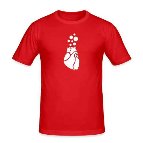 BubbleHeart - Men's Slim Fit T-Shirt