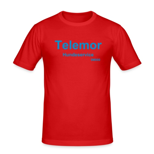 Telemor Hundeservice - Slim Fit T-skjorte for menn