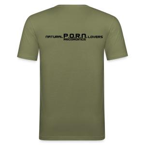 Match Me / Natural PORN Lovers - Männer Slim Fit T-Shirt