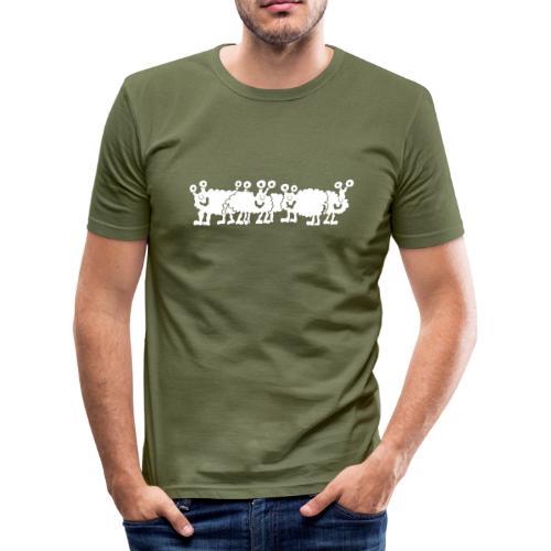 Monsterschafsshirt - Männer Slim Fit T-Shirt