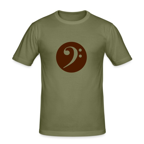 F-Clef beige - Männer Slim Fit T-Shirt