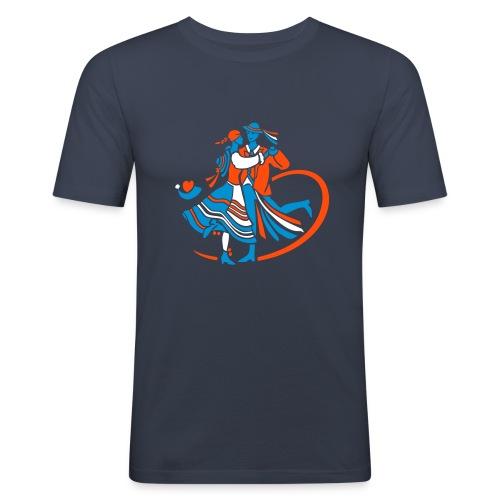 """""""Metzgerpaar"""", schmal, navy - Männer Slim Fit T-Shirt"""