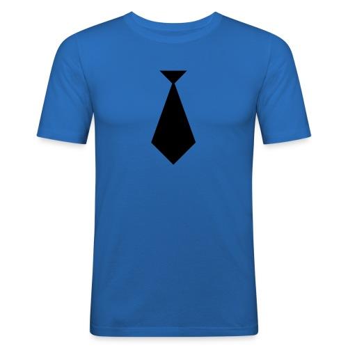 Stropdas blauw - slim fit T-shirt