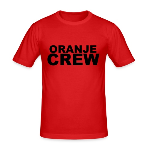 Oranje crew shirt - slim fit T-shirt