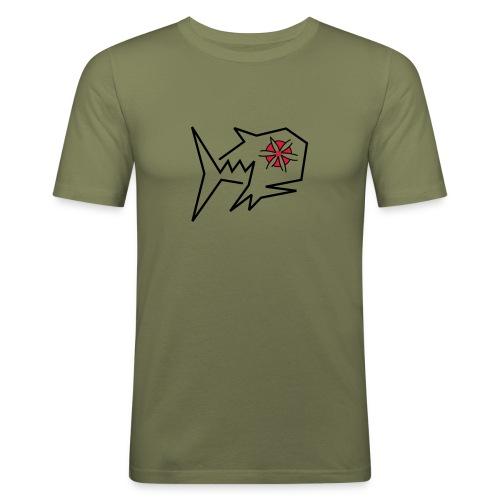 Blumenfisch T-Shirt - Männer Slim Fit T-Shirt