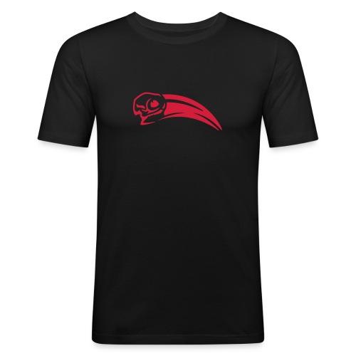 Rotschnabeltoko Schädel Shirt - Männer Slim Fit T-Shirt