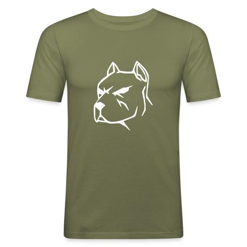 Face  Marron - T-shirt près du corps Homme
