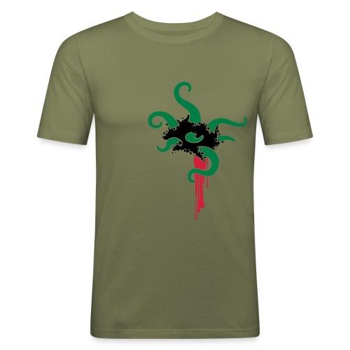 Evil tentacles - Olive Dystopia - Männer Slim Fit T-Shirt