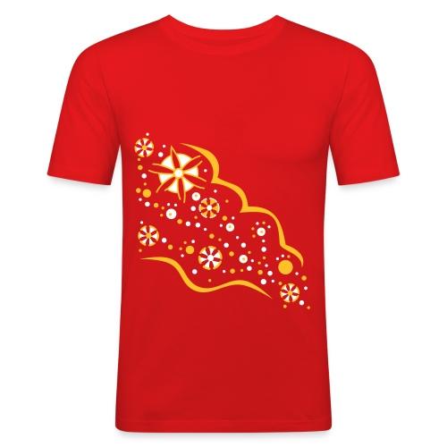 Blumen Flut T-Shirt - Männer Slim Fit T-Shirt