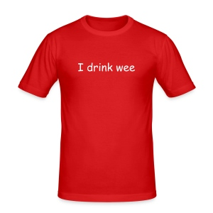 I drink wee and eat poo - Men's Slim Fit T-Shirt