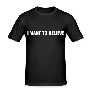 I Want To Believe - Men's Slim Fit T-Shirt
