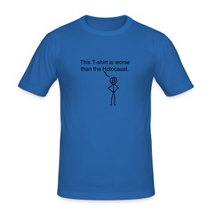 """Worse than the Holocaust"" T-Shirt - Men's Slim Fit T-Shirt"