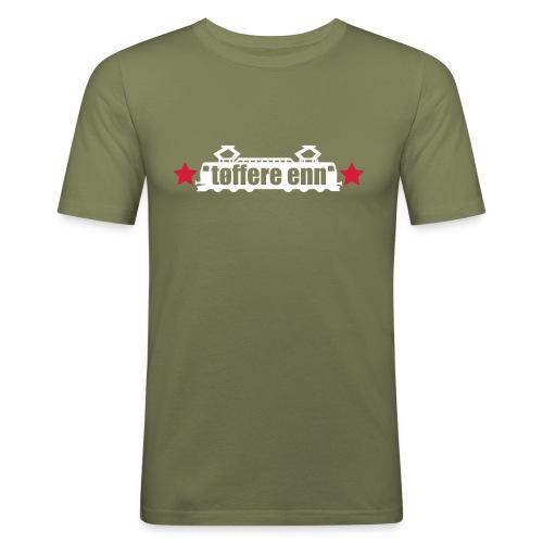 Tøffere enn toget, herre - Slim Fit T-skjorte for menn