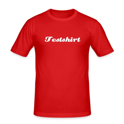 Testshirt - Männer Slim Fit T-Shirt