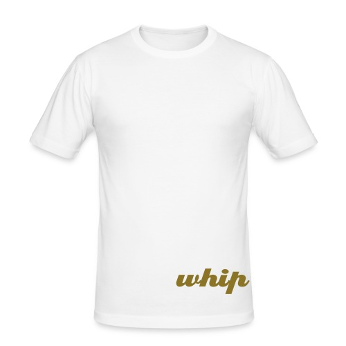 Whipped To The Side (White) - Men's Slim Fit T-Shirt